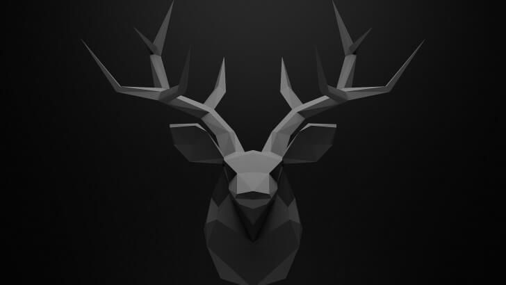 Low Poly Deer Head Wallpaper —Multiple resolutions from here https://goo.gl/HohCPC