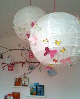 Leuke lamp maken voor een kinderkamer, je kan er natuurlijk van alles op plakken. Ook leuk voor tuinfeesten.