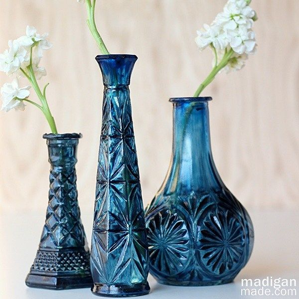 Easy DIY Painted $1 Glass Vase - Provident Home Design