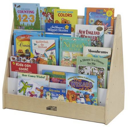 ECR4Kids Birch Pic-A-Book Stand with Dry-Erase Board