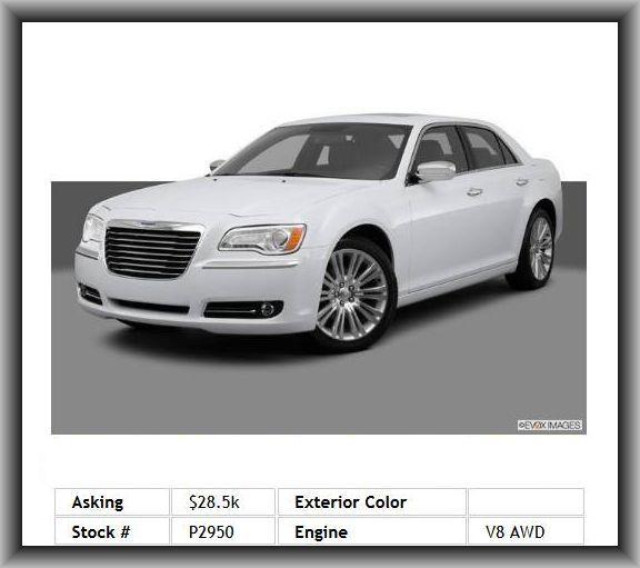 2013 Chrysler 300 C Sedan Stability Control, Power Remote Trunk Release, Cargo Area Light, Short