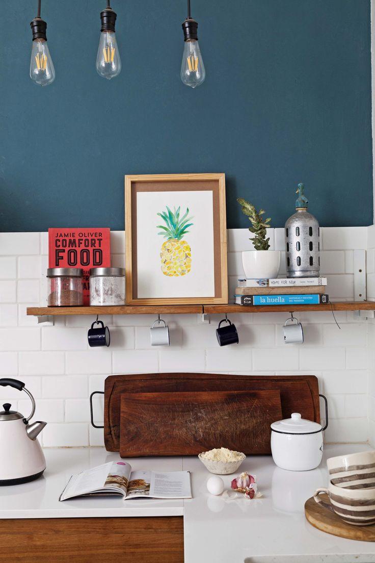 M s de 25 ideas incre bles sobre azulejos de la pared en - Cocinas azul tierra ...