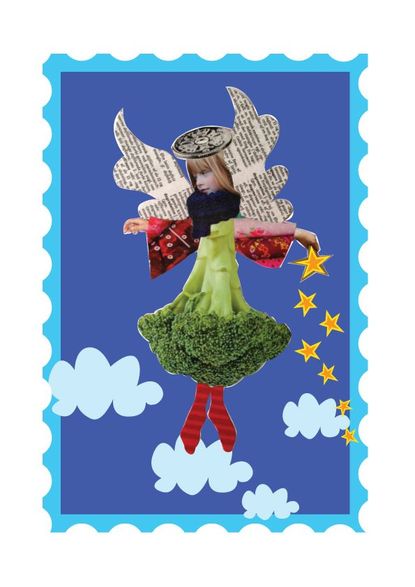 Julemærke  2013  Lille Broccoli-engel