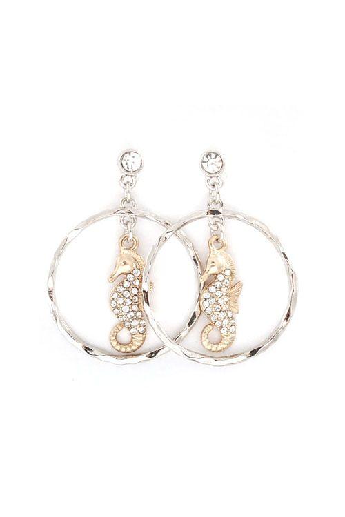 Crystal Seahorse Earrings