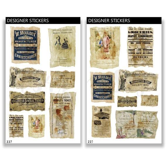 Vintage Ephemera Planner Stickers Junk Journal Bullet Etsy In 2020 Planner Stickers Journal Stickers Planner