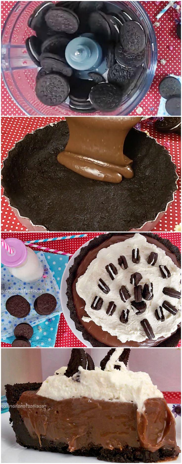 Aprenda fazer uma deliciosa Torta Oreo com Brigadeiro #oreo #tortadeoreo #sobremesadeoreo #sobremesa #sobremesas #doce #doces