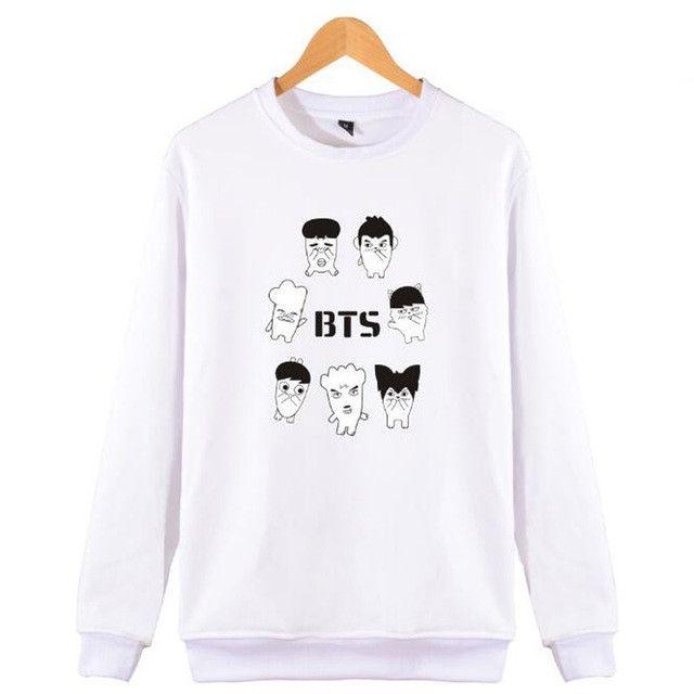Cartoon Characters Camouflage Sweatshirt Men Women Kpop BTS Bangtan Boys album Hoody Pullover Hoodies Jungkook Jimin Jin V Suga