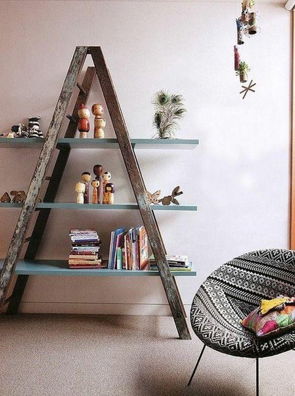 Die 25+ Besten Ideen Zu Regalleiter Auf Pinterest | Hängeleiter ... Blumenstander Selber Bauen Alte Holzleiter