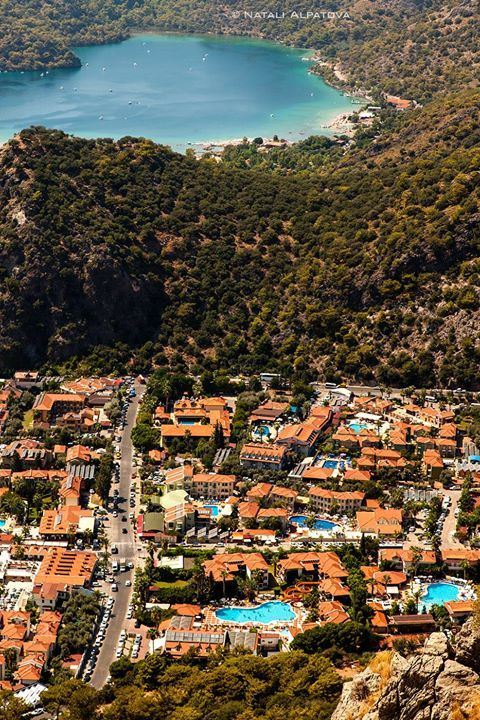 View to #Oludeniz village and Blue Lagoon National Reserve