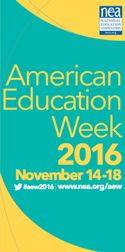 NEA's American Education Week (AEW) spotlights the importance of providing every child in America with a quality public education from kindergarten through college, and the need for everyone to do his or her part in making public schools great.