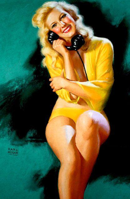 *Pinup...See More of You  Artist:Earl Moran  Date:1946