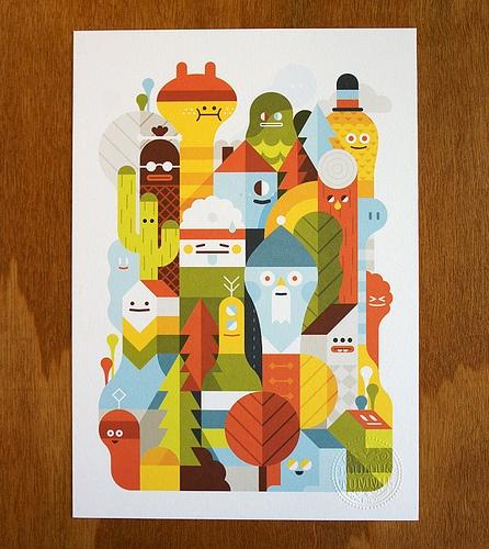 Character City PrintVector Illustration, Prints Design, Posters Design, Graphics Design, Loulou, Character Design, Cities Prints, Character Cities, Art Illustration