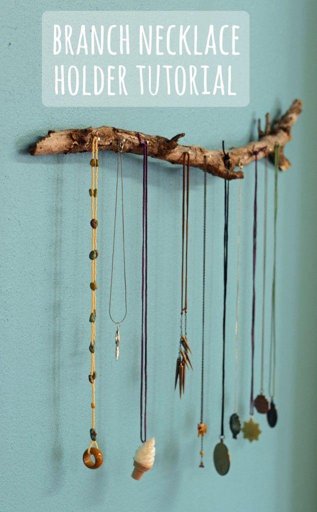 branch necklace holder tutorial