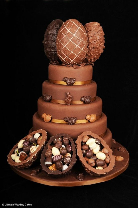 Happy Easter Cake - Ultimate Chocolate Lovers Easter #Cake We love this! Amazing!