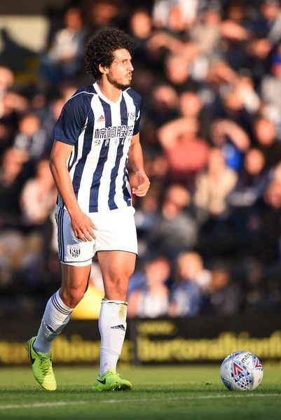 Ahmed Hegazy of West Bromwich Albion in action during the pre season friendly match between Burton Albion and West Bromwich Albion at Pirelli Stadium on July 26, 2017 in Burton-upon-Trent, England.