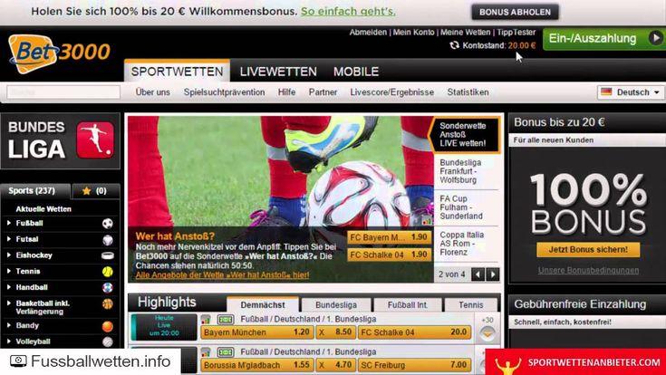 Bet3000 Erfahrungen - Test von fussballwetten.info + sportwettenanbieter...