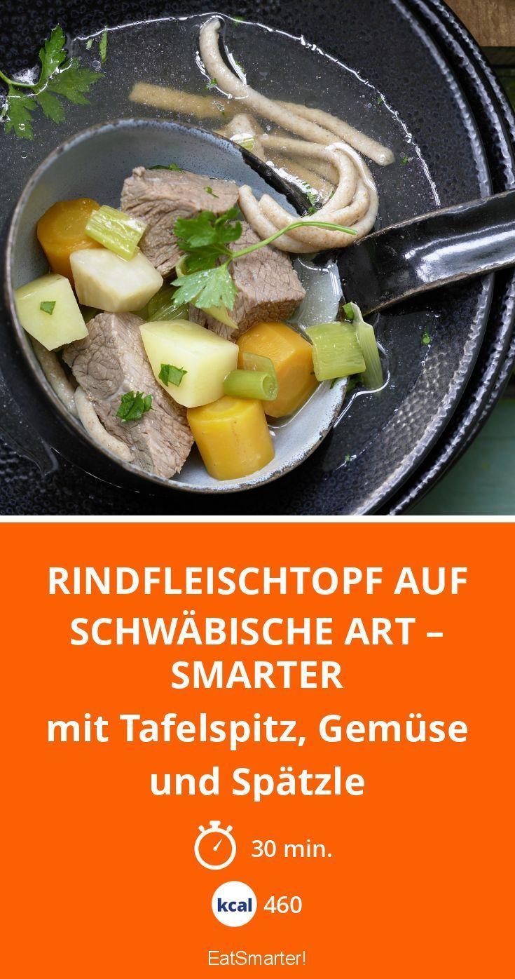 Rindfleischtopf auf schwäbische Art – smarter - mit Tafelspitz, Gemüse und Spätzle - smarter - Kalorien: 460 kcal - Zeit: 30 Min. | eatsmarter.de