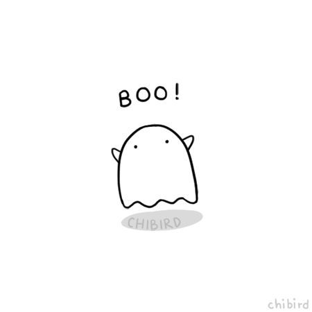 Happy Halloween from our little Ghostie friend! ^ u ^ ♥ Have fun tonight, everyone ... - Funny - #Endless #All # Happy #Funny