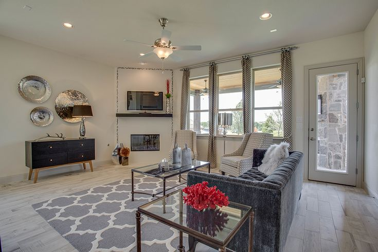 Dallas Texas Belmont Woods Sycamore Gehan Homes Living Room Gallery