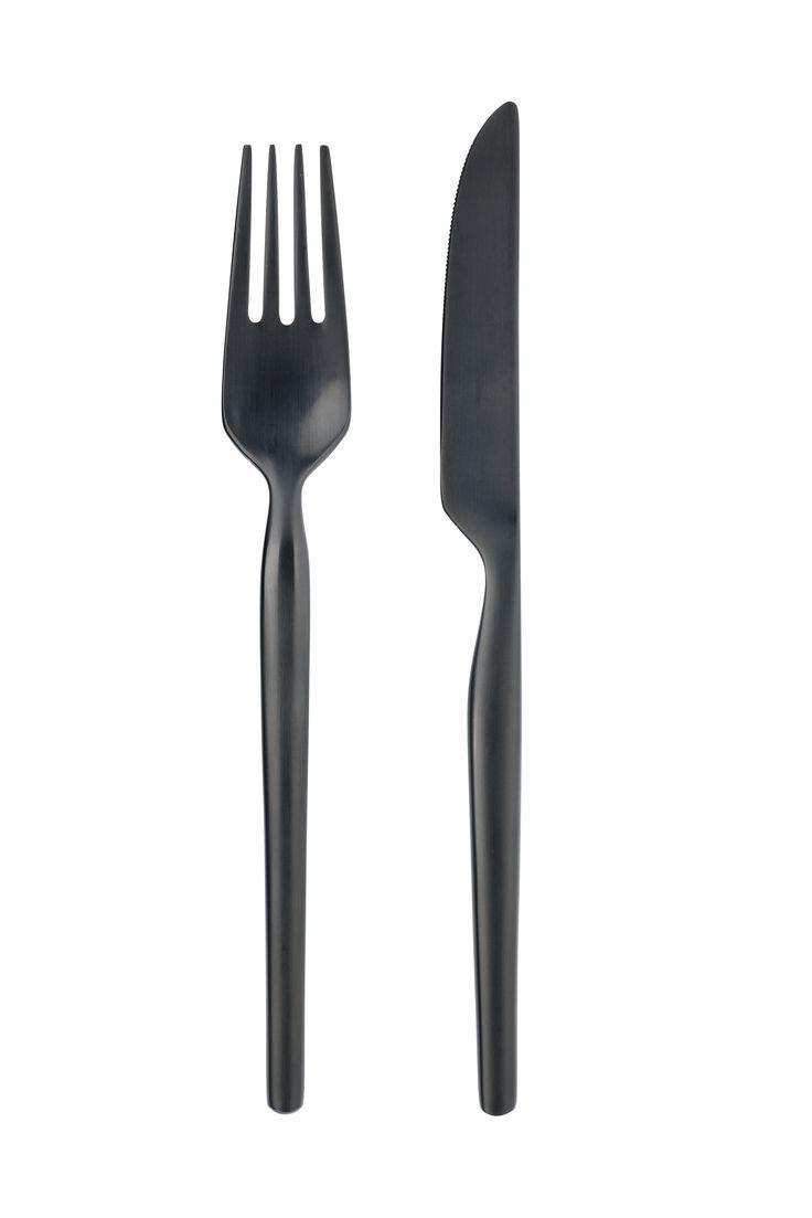 Dorotea night black cutlery by Gense