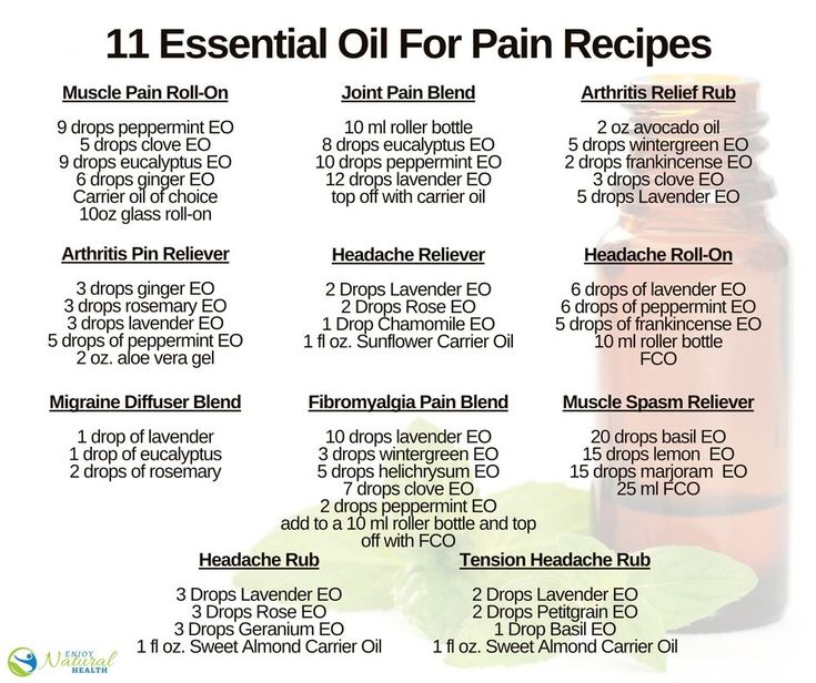 Try these outstanding essential oil pain relief blends and recipes - everything from reducing Fibromyalgia and headache pain, soothing sore muscles and arthritis relief!
