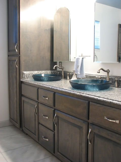 we originally wanted an undermount but loved the look of a vessel sink our vanity