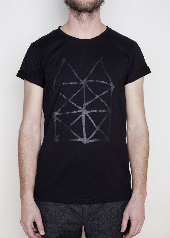 triko DŮM černé