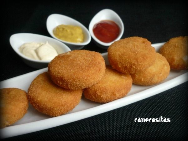Thermomix Chicken Nuggets - need google translate :-) Tested - These were really yummy but used less cheese.