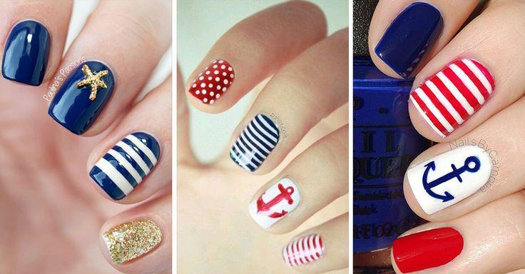 Uñas Nauticas, mas de 40 ejemplos - Nautical Nails - http://xn--decorandouas-jhb.net/unas-nauticas-mas-de-40-ejemplos-nautical-nails/