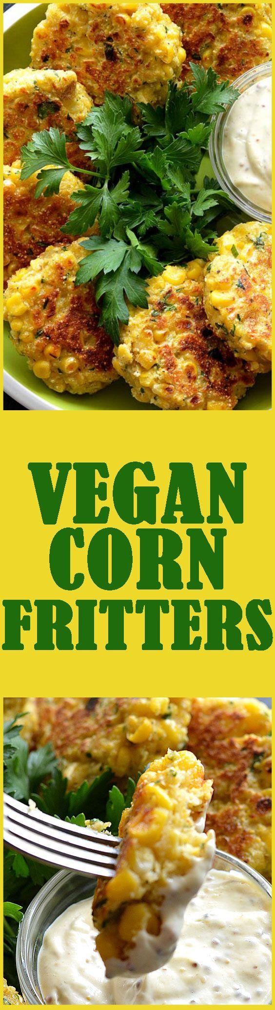 Vegan Corn Fritters | Recipe | Corn Fritters, Fritters and Vegans
