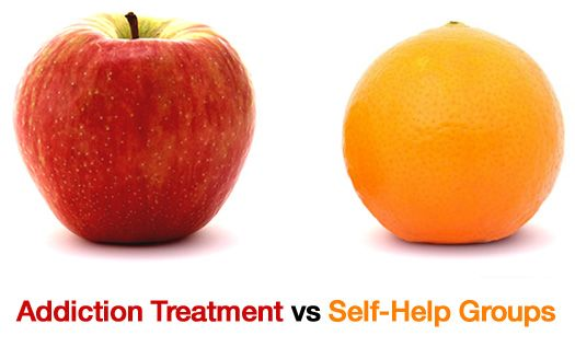 Addiction Treatment vs Self Help Groups