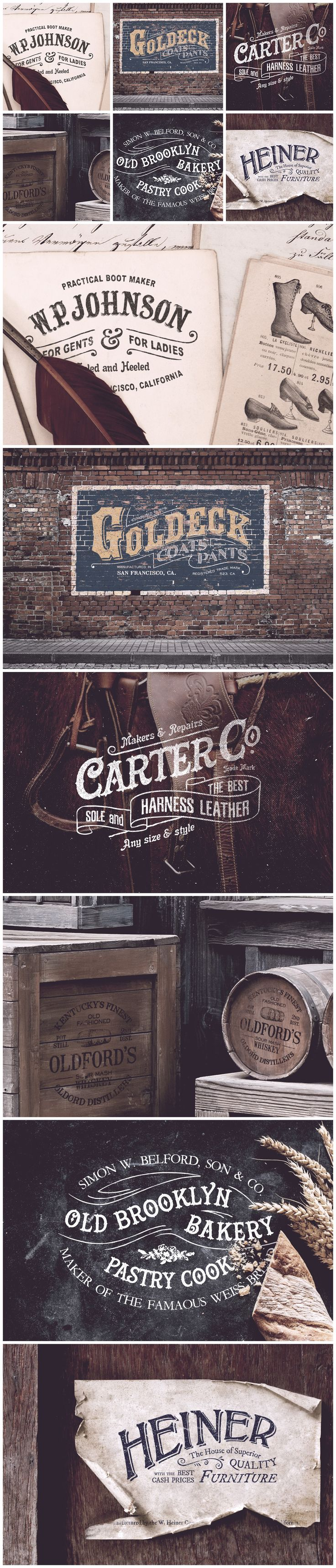 19th Century Vintage Logo Template designs: inspiration for your next branding project