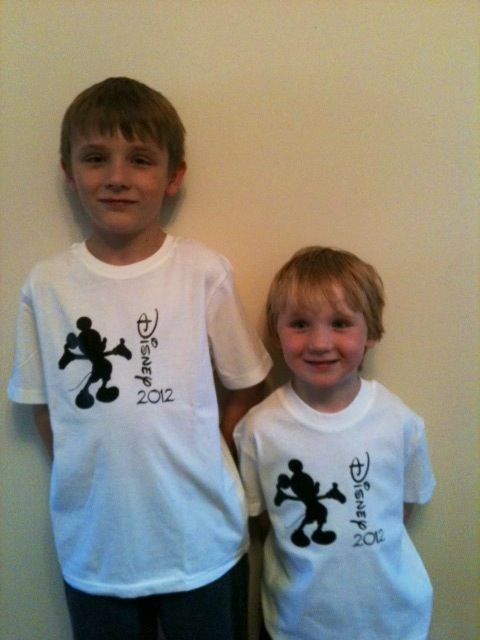 Disney shirts,Silhouette cameo Have boys with mickey, and girls with Minnie