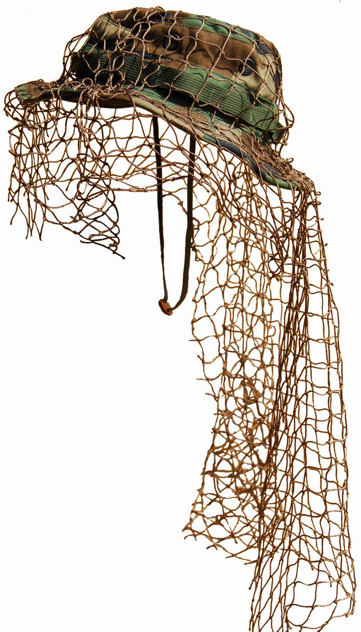 Build Your Own Sniper Ghillie Boonie Hat - Add your own thread and vegetation   Supernatural Style