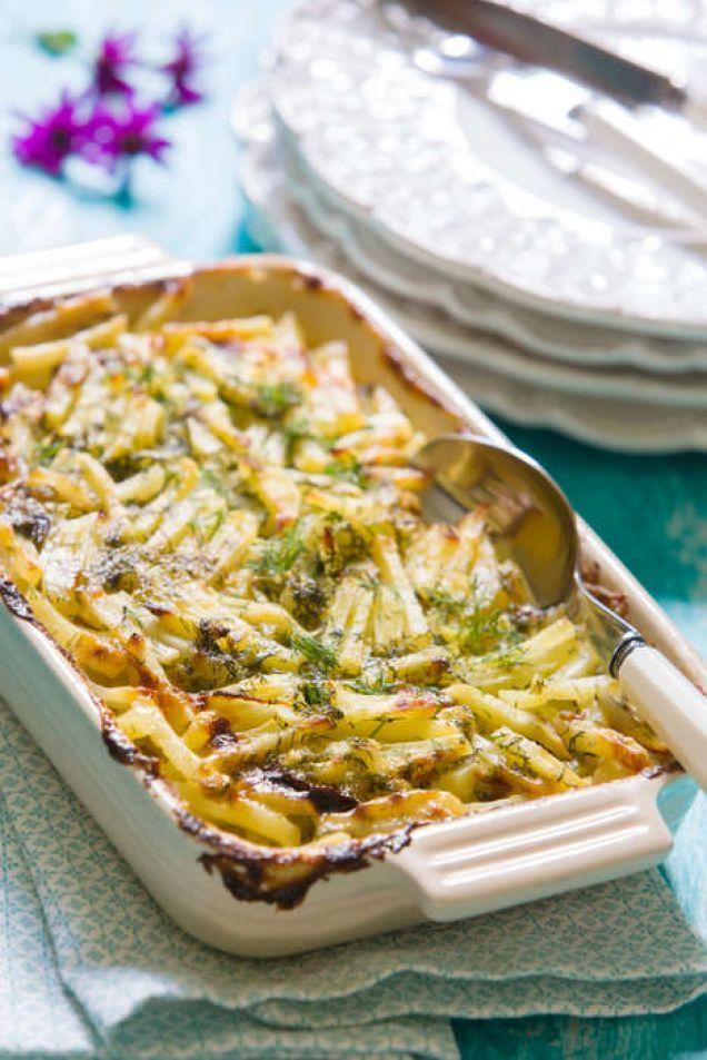 Laxfrestelse med gravad lax & strimlad potatis - Mitt kök