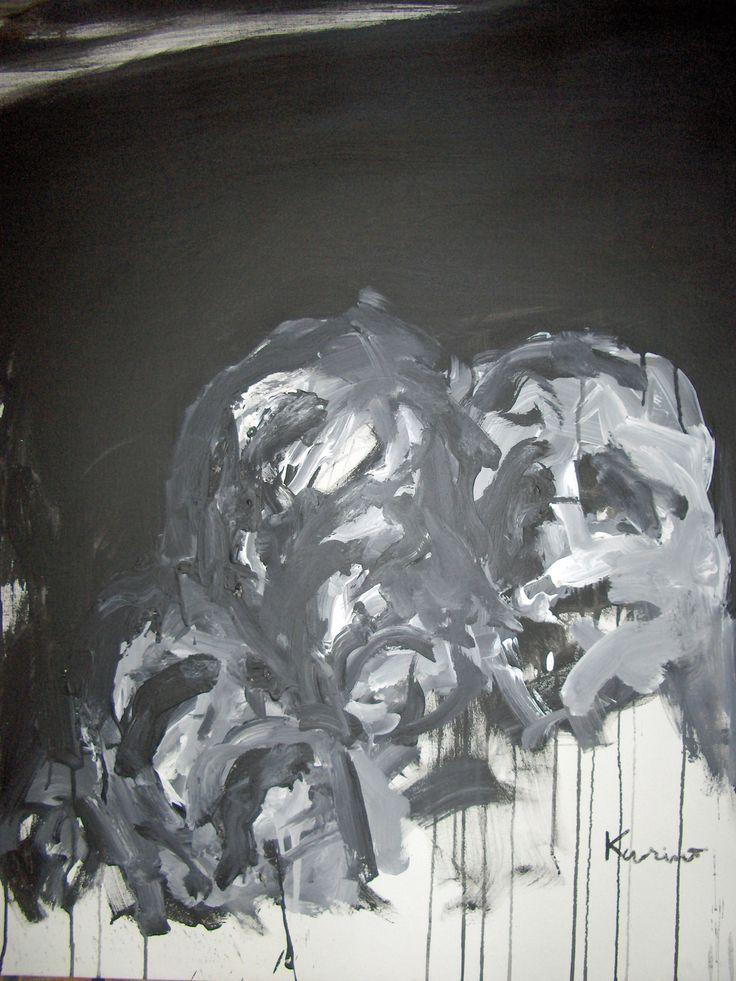 III Warriors  Acrylic on canvas 100x81 cm 22.12.2003 © Karino Amade