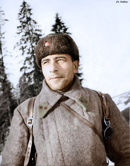 Major-General ME Katukov - commander of the 1st Guards Tank Brigade. Battle of Moscow 1941/1942