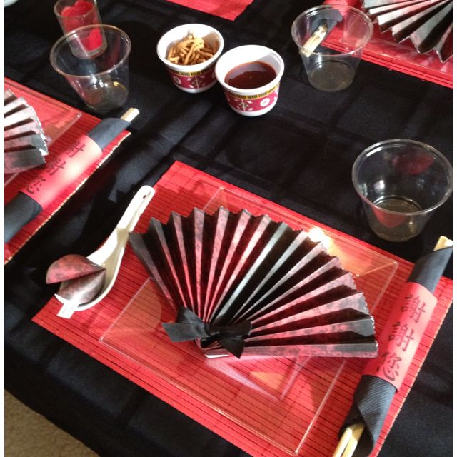 Asian Themed Party-ideas for the book club