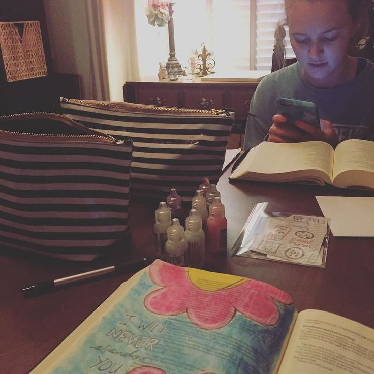 Spending Some Time Today With My Beautiful Daughter Bible Journaling While Trying To Pass