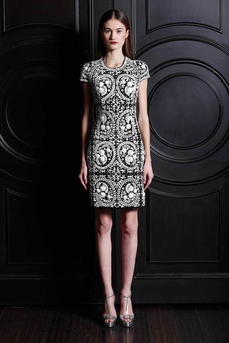 Naeem Khan #dress #embellished #pattern