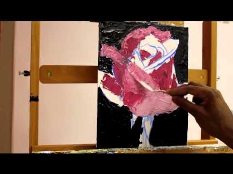 How To Paint A Rose With A Palette Knife