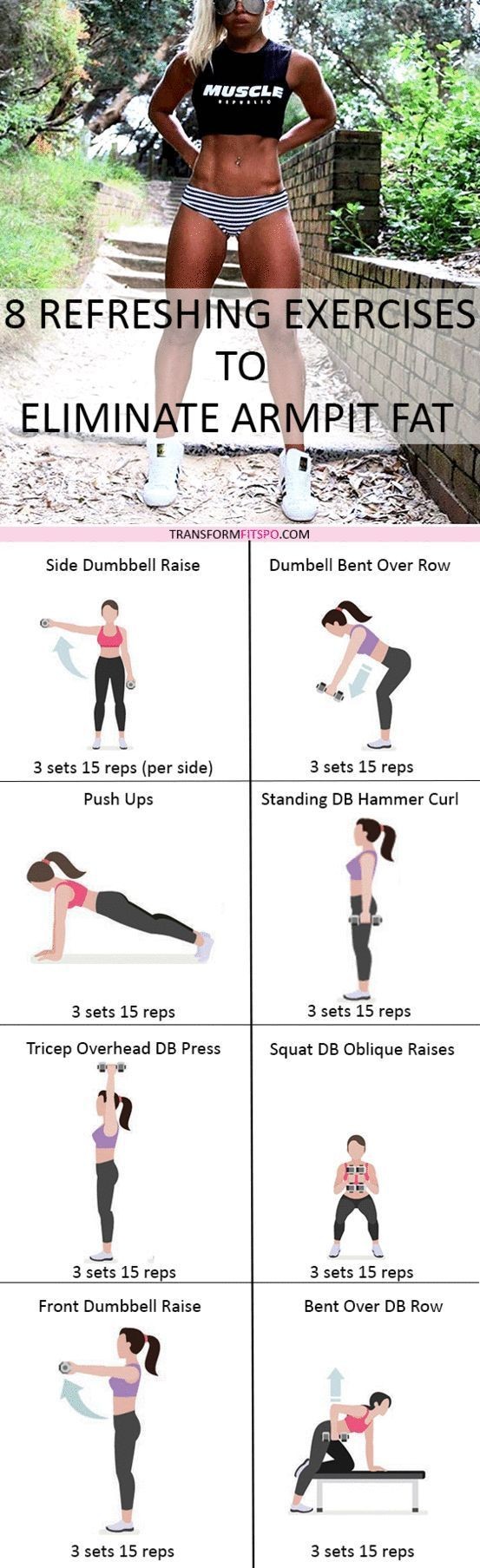 Repin and share if this workout got rid of your embarrassing fat! Click the pin for all the workout information!