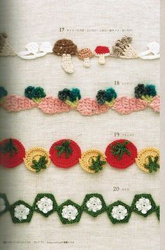 SOLO PUNTOS: Borde Crochet