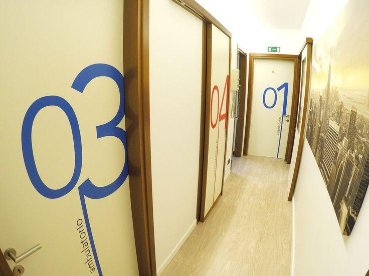 corridoio numerazione ambulatorio in prespaziato