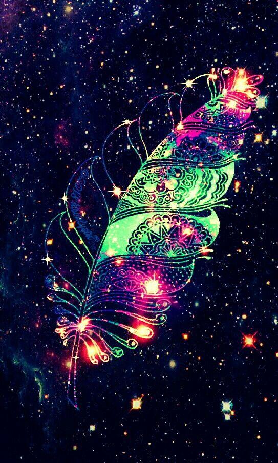 Sparkle Feather galaxy wallpaper I created for CocoPPa   Bilder   Fond ecran, Fond ecran rose ...