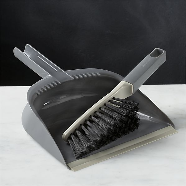 Casabella® Grey Dustpan and Brush Set in Cleaning | Crate and Barrel. Most of the floors are carpeted but this will be perfect for the kitchen.