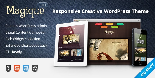 Magique - Ultimate Creative WordPress Theme - ThemeForest Item for Sale