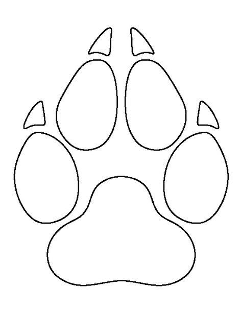 371 best images about stencils and patterns on pinterest for Tiger paw template