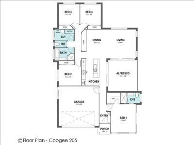 Floor Plan COOGEE 205 145.04m2