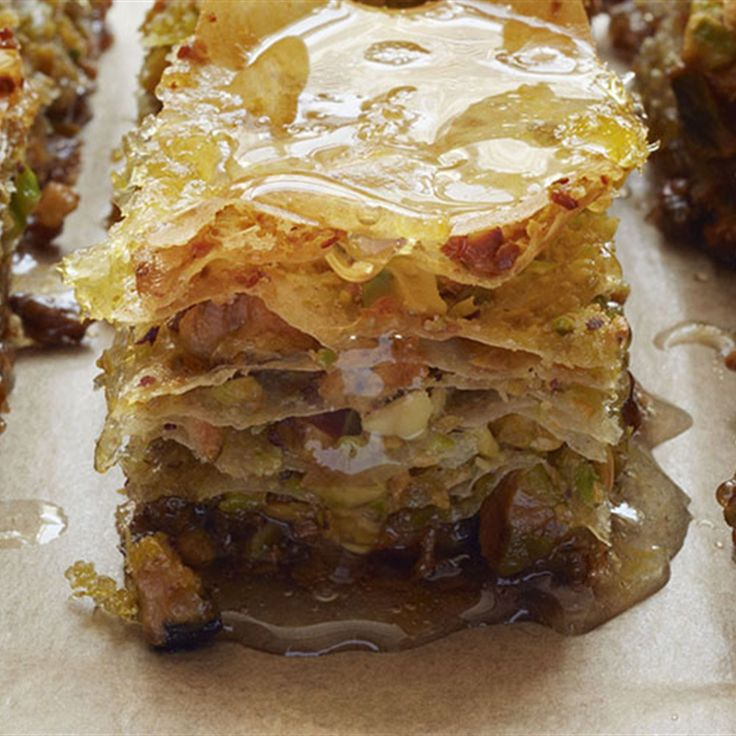Try this Lemon and Pistachio Baklava recipe by Chef Gordon Ramsay.
